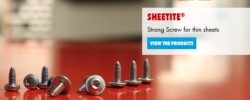The screw for thin sheets